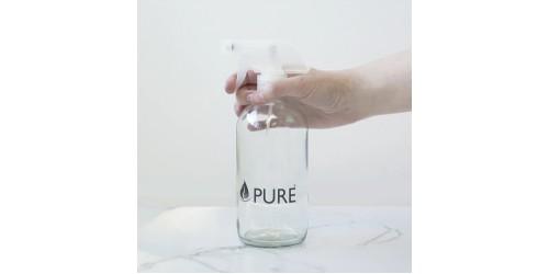 Bouteille de verre 500 ml avec vaporisateur (vide)
