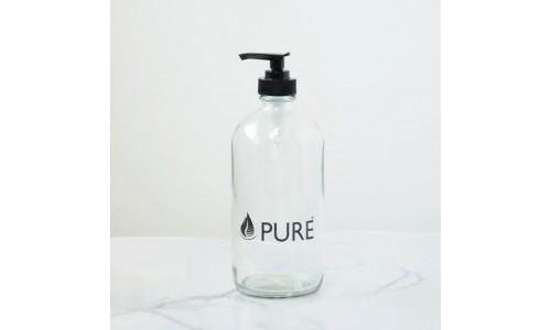 Bouteille de verre 500 ml avec pompe (vide)